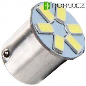 Žárovka LED Ba15S 12V/1,5W bílá, 6xLED5730