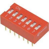 DIP spínač DSR-07, 9,9 x 5,7 mm, 7pól.