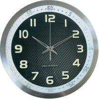 Nástěnné DCF hodiny Techno Line Metall 3D WT 8970, 30 cm, hliník
