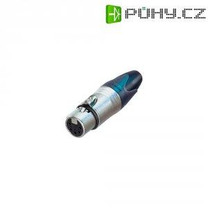 XLR kabelová zásuvka Neutrik NC5FXX, rovná, 5pól., 3,5 - 8 mm , stříbrná