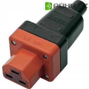 Síťová IEC zásuvka C21 Kalthoff T 155, 250 V, 16 A, černá, 444008