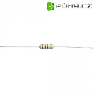 Uhlíkový rezistor, 270 Ω, 0411, axiální vývody, 0,5 W, 5 %
