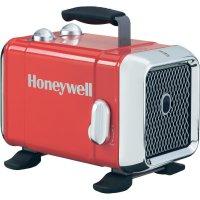 Keramický topný ventilátor Honeywell HZ-510E, 24 m², 1100 W, 1800 W, červená, chrom