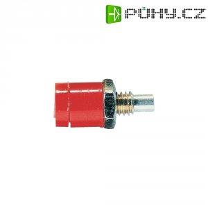 Labor. konektor Ø 2 mm Schnepp BU 2400, zásuvka vest. vert., červená