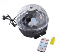 Disco LED koule s USB, MP3 a ovladačem