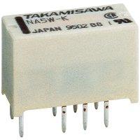 Subminiaturní relé série NA Takamisawa, NA5WK5V, 1.25 A , 110 V/DC/125 V/AC 62,5 VA/30 W