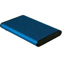 Univerzální pouzdro hliníkové Hammond Electronics, (d x š x v) 100 x 70 x 12 mm, modrá