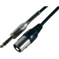 Kabel stereo jack (M) 6,3 mm / XLR (M), 3 m