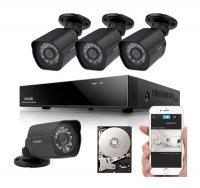 Kamera set ZMODO 1080P sPoE 8CH NVR + 4x IP CAM + 1TB HDD digitální