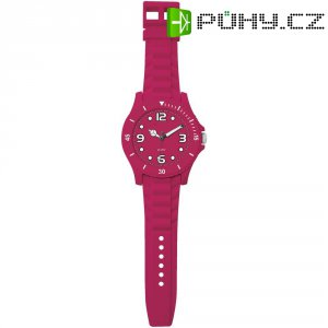 Analogové nástěnné hodiny v provedení hodinek, Ø 30 x 100 cm, červená