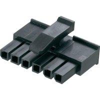 Pouzdro konektoru micro-3-mm-Mate-N-Lok TE Connectivity 1445022-4, zásuvka rovná, 3 mm