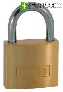 Visací zámek na klíč Kasp K12025, 25 mm, zlatožlutá