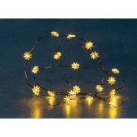 Mini vánoční řetěz Konstsmide 20 LED hvězdiček, žlutá