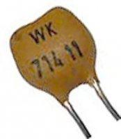 240pF/63V WK71411, slídový kondenzátor