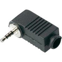 Jack konektor 2,5 mm BKL 1107016, zástrčka úhlová, 4pól./stereo, černá