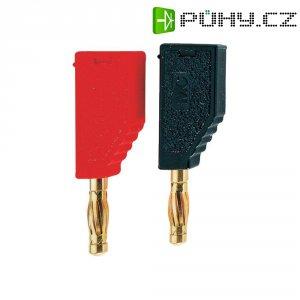 Lamelový konektor Ø 4 mm MultiContact SLS425-A (22.2631-22), zástrčka rovná, červená