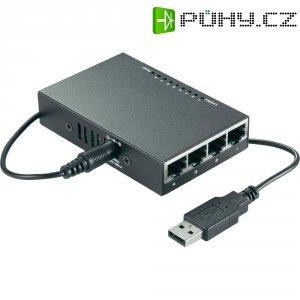 Switch mini Ethernet, 8-portový s USB napájením
