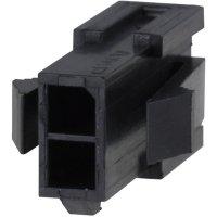 Pouzdro konektoru TE Connectivity Micro-Mate-N-Lok (1-794615-6), 250 V, 3,0 mm, černá