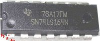 74LS164 8-bit posuvný registr s nulováním, DIL14 /SN74LS164N/