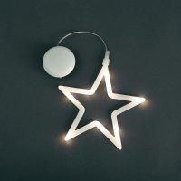 Svítící LED ozdoba na okno, hvězda