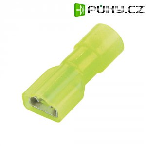 Faston zásuvka Vogt Verbindungstechnik 3967 6.3 mm x 0.8 mm, 180 °, plná izolace, žlutá, 1 ks