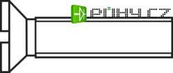 Šrouby se zápustnou hlavou s drážkou TOOLCRAFT, DIN963, M4 x 8, 100 ks