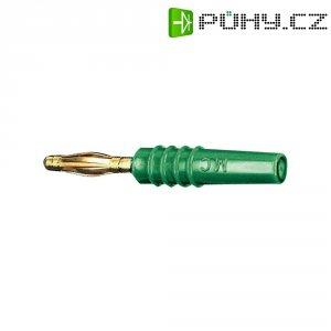 Lamelový konektor Ø 2 mm MultiContact 22.2618-25, zástrčka rovná, zelená