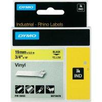 Páska do štítkovače DYMO 18433 (S0718470), 19 mm, IND RHINO, 5,5 m, černá/žlutá