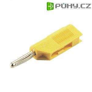 Banánkový konektor Ø pin: 4 mm SKS Hirschmann VSB 20, zástrčka, rovná, žlutá, 1 ks