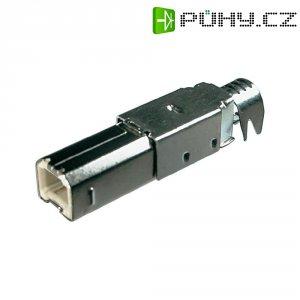 Konektor USB typ B BKL Electronic 10120099, zástrčka rovná, pájený