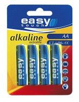 Baterie AA (R6) alkalická Easytouch (blistr 4ks)