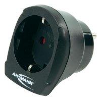 Cestovní adaptér Ansmann, 1250-0002, USA, černá