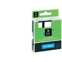 Páska do štítkovače DYMO 40913/ 45013 (S0720680/ S0720530), 9/12 mm, D1, 7 m, černá/bílá, 2 ks
