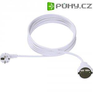 Prodlužovací kabel s ochrannou úhlovou zástrčkou Bachmann Elektrik, 5 m, bílá