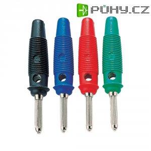 Banánkový konektor SKS Hirschmann, zástrčka, rovná, Ø pin: 4 mm, BUELA 20 K, modrá
