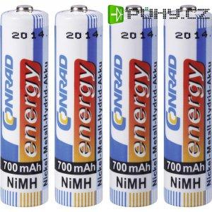 Akumulátor Conrad energy, NiMH , AAA, 700 mAh, 4 ks