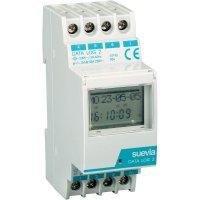 Digitální spínací hodiny na DIN lištu Suevia Data Log II, 230 V/AC