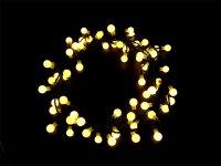 Řetěz vánoční 60 LED 6m, IP44, bílá teplá, RETLUX RXL15