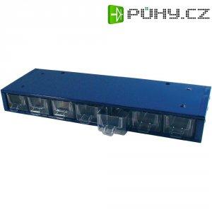 Zásobník na součástky kovový, stolní, 420 x 150 x 50 mm