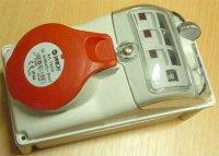 Zásuvka 230/400V/16A 5kolík FANTON 73315 s vypínačem, IP44, DOPRODEJ