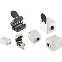 Dělené feritové jádro Würth Elektronik pro kabely Ø 8,5 až 10,5 mm, 74271221