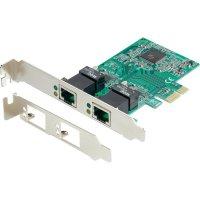 Síťová karta PCI-E Gigabit Ethernet, 2 porty