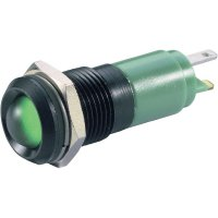 LED signálka Signal Construct SWDU14724, IP67, 24 V/DC / 24 V/AC, lesklý chrom, zelená