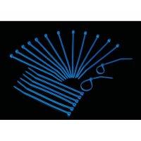Stahovací pásky UV reaktivní Conrad 549971, 22 mm, modrá, 20 ks