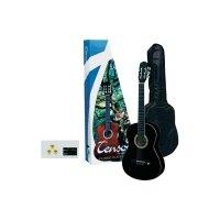 Sada akustické kytary Tenson, velikost 4/4, černá