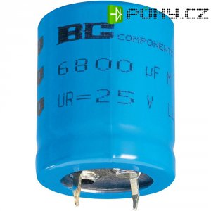 Snap In kondenzátor elektrolytický Vishay 2222 056 57332, 3300 µF, 40 V, 20 %, 30 x 22 mm