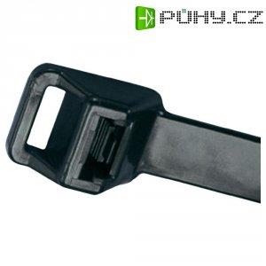 Rozepínací stahovací pásek s očkem Panduit PRT5EH-C0, UV odolný 511 x 12,7 mm, černá
