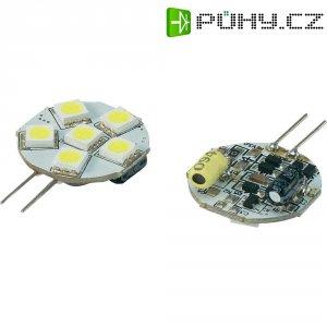 LED žárovka Renkforce, G4, 1,3 W, 30 V, 33 mm, studená bílá