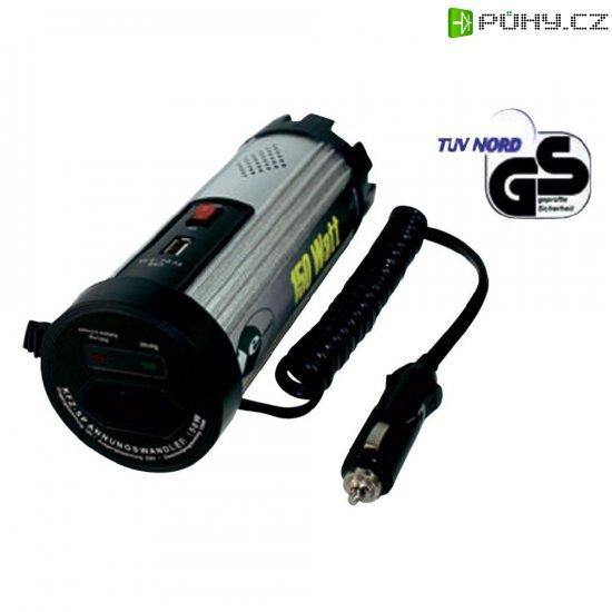 Trapézový měnič napětí DC/AC e -ast SL 150-A-12, 12V/230V, 150 W, USB - Kliknutím na obrázek zavřete
