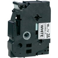 Páska do štítkovače Brother TZe-FX241, 18 mm, TZe-FX, TZ-FX, 8 m, černá/bílá